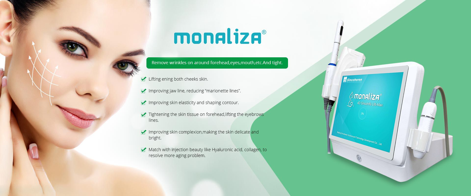 4D HIFU wrinkle removal and body slimming