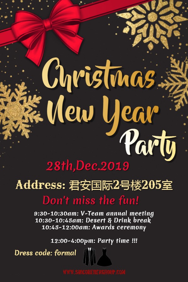 Christmas Day and New Year Party