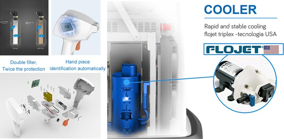 New design 755 808 1064nm diode laser