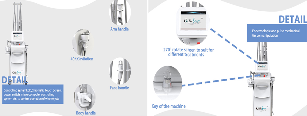 Cellu Shape Cavitation RF Face and Body Contouring and Fat Reduction Device