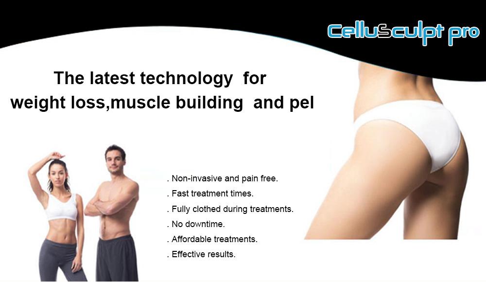 CelluSculpt Pro HI-EMT muscle building, weight loss and pelvic flgor treatment device